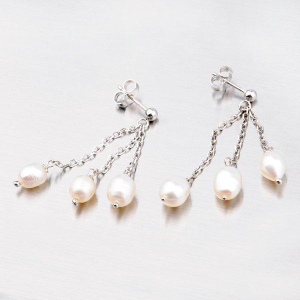 Stříbrné perlové náušnice YNG2093
