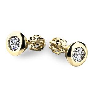 Zlaté náušnice s diamanty 10907-ZL