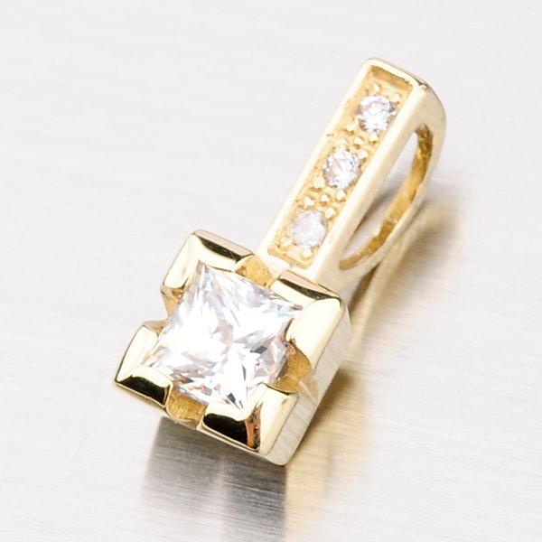 Zářivý přívěsek ze žlutého zlata DZ1922ZL