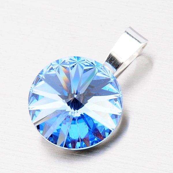 Stříbrný přívěsek s krystalem 12 mm D113M