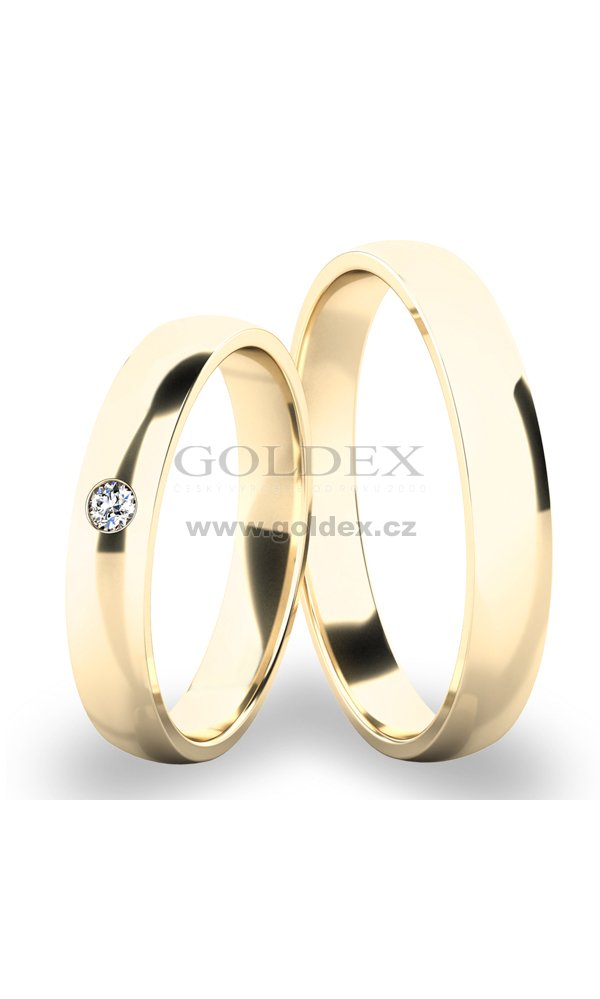 Snubni Prsteny Zlute Zlato Sp 286 01 Goldex Cz