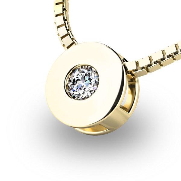 Přívěsek s diamantem ze žlutého zlata 10912-ZL