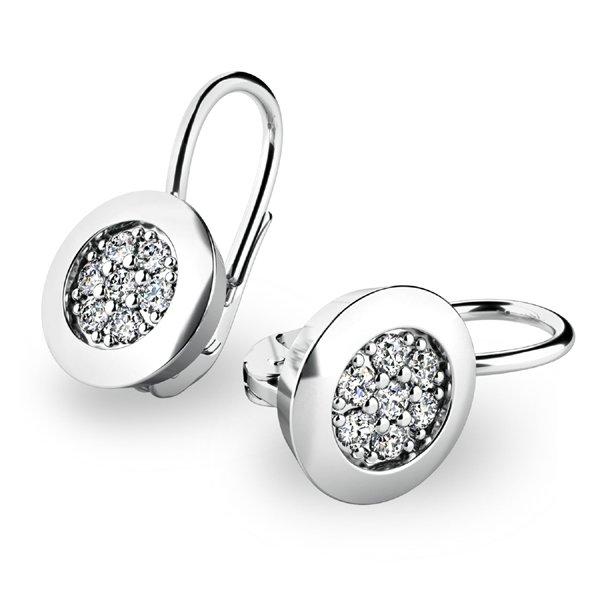 Diamantové náušnice z bílého zlata 10902-B