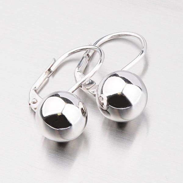 Náušnice se stříbrnou kuličkou 10 mm YNG2109