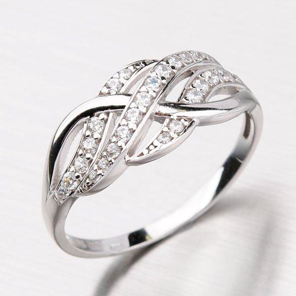 Prsten z bílého zlata 11-129