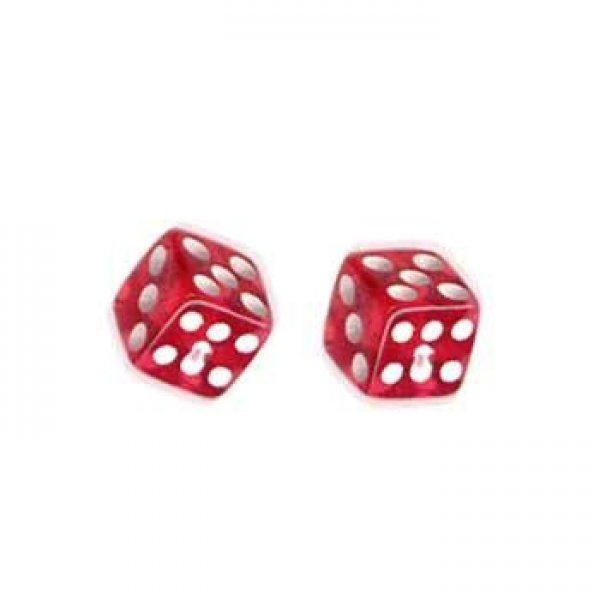 Náušnice kostky ESSW05-RED