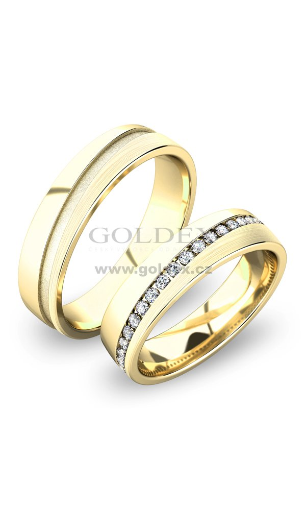 Zlate Snubni Prsteny Sp 61056 Goldex Cz