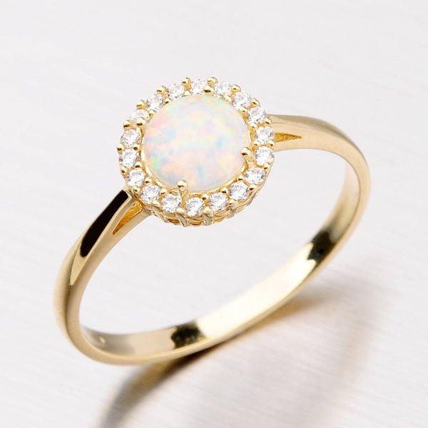 Krásný prsten ze zlata s opálem 11-124