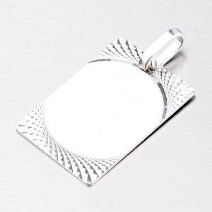Stříbrná facetovaná destička M5440A