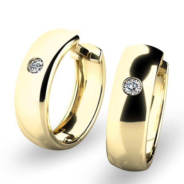 Náušnice kruhy s diamanty 10916-ZL
