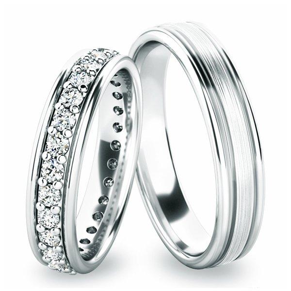 Stříbrné snubní prsteny SP-61053-Ag