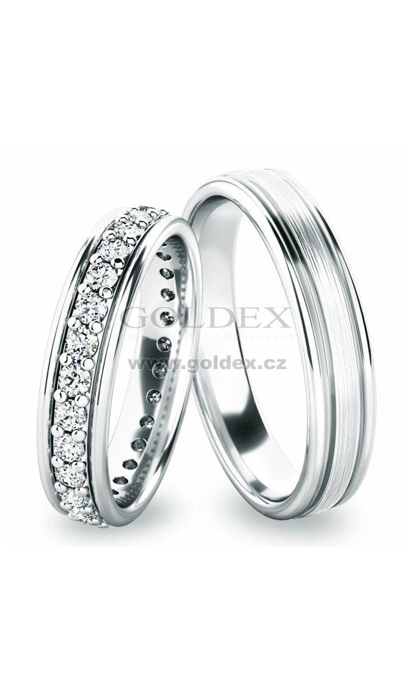 Stribrne Snubni Prsteny Sp 61053 Ag Goldex Cz