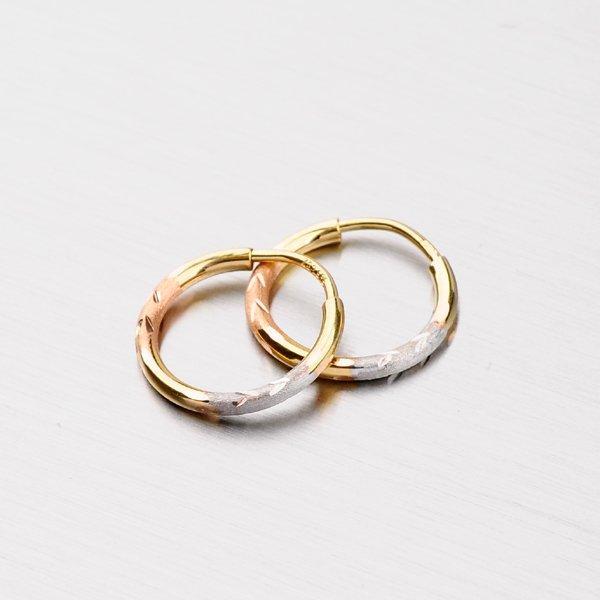 Zlaté kruhy 13 mm 12-248