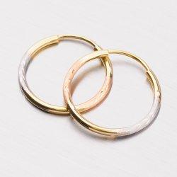 Zlaté kruhy 18 mm 12-249