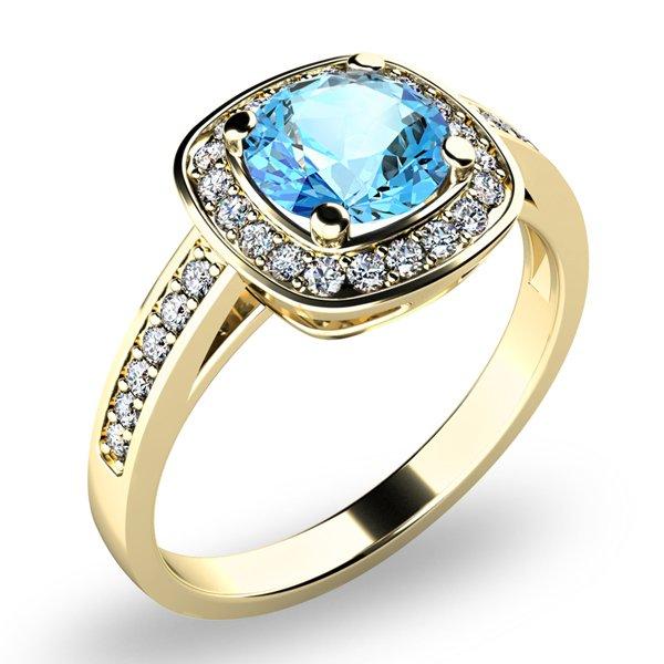 Dámský prsten s topazem a brilianty 10766-ZL-TPZ