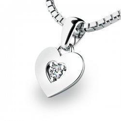 Zlaté srdce s briliantem 10874-B-DIA