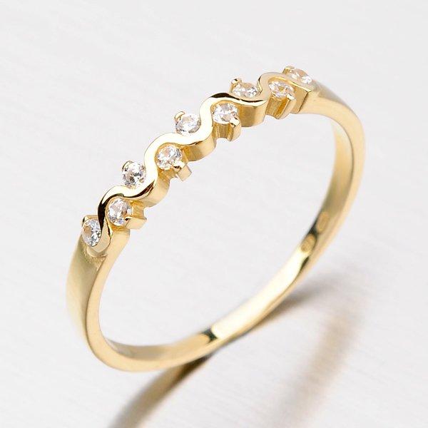 Krásný prsten se zirkony DZ2086ZL