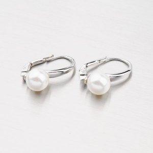 Elegantní náušnice ze stříbra s perlou YNG2152