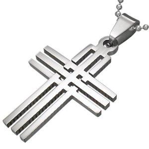 Kříž z chirurgické oceli GTPB126