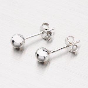 Stříbrné pecky s kuličkou YNG2119