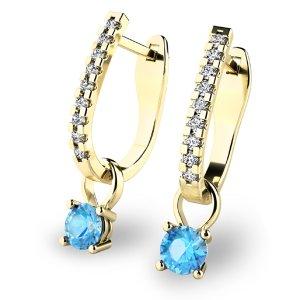 Diamantové náušnice s topazy 10862-ZL-TPZ
