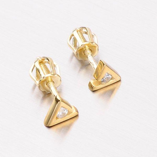 Náušnice ze žlutého zlata DZ1756ZL