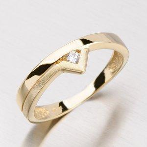 Prsten ze žlutého zlata DZ1565ZL