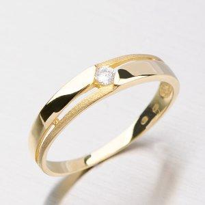 Prsten ze zlata se zirkony DZ1660ZL