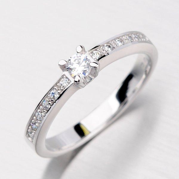 Zlatý prsten se zirkony DZ1917B