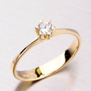 Krásný prsten ze žlutého zlata DZ1953ZL