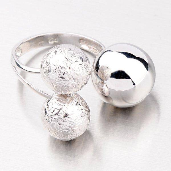 Stříbrný prsten z kuliček XK-0014-XC