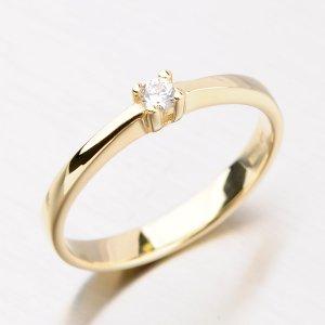 Prsten ze zlata se zirkonem DZ1904ZL
