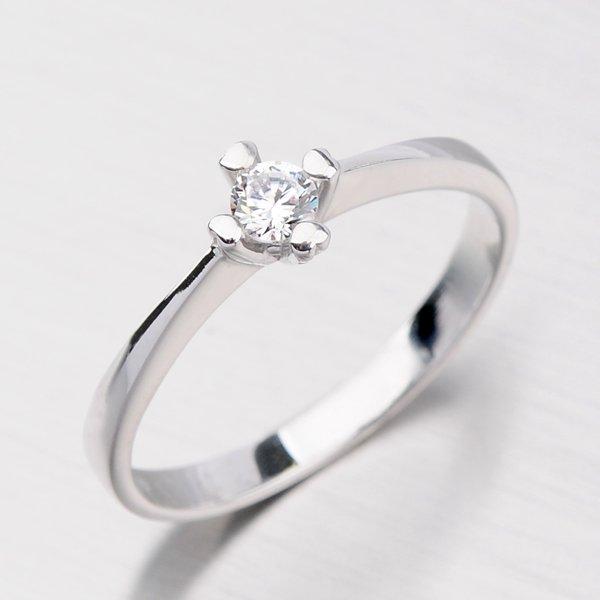 Dámský prsten z bílého zlata DZ2089B