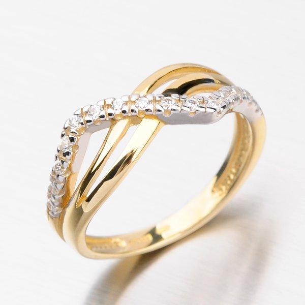 Prsten se zirkony DZ2082Z