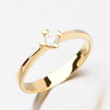Dámský prsten ze žlutého zlata DZ2089ZL