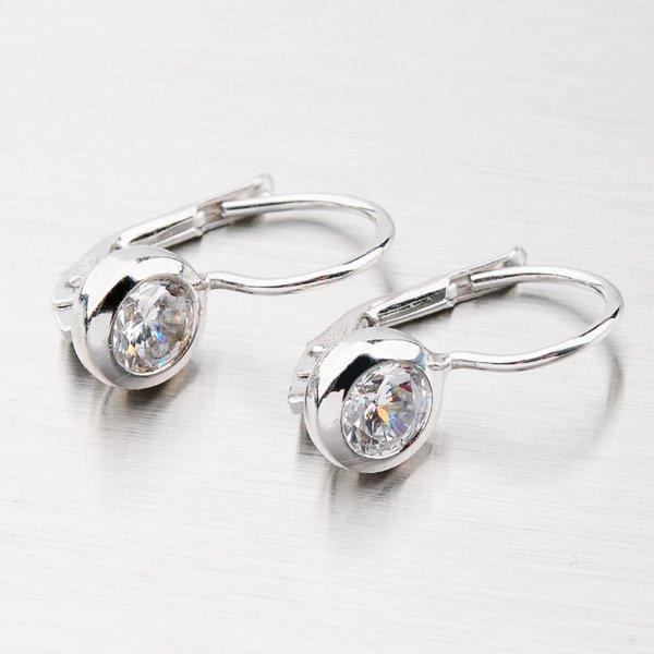 Elegantní náušnice ze stříbra se zirkony YNG2154