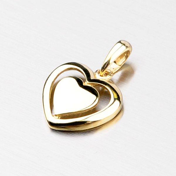 Srdce ze žlutého zlata DZ1816ZL