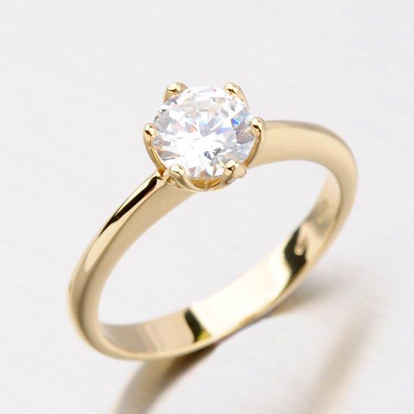 Dámský prsten se zirkony DZ1959ZL