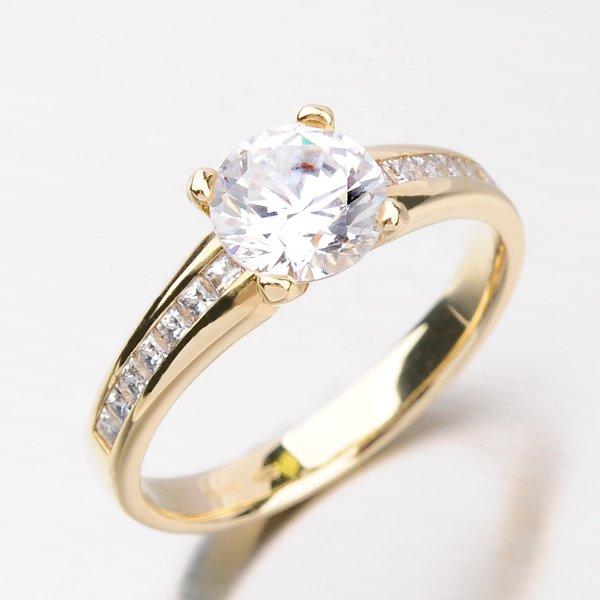 Dámský prsten se zirkony DZ2088ZL