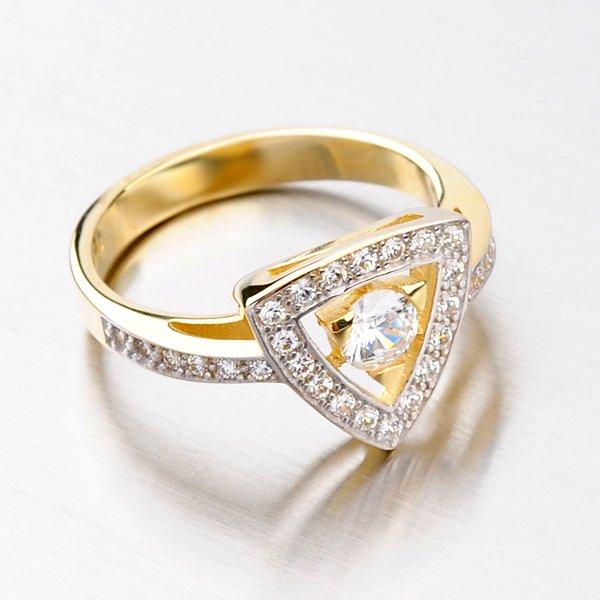 Krásný prsten se zirkony DZ1970ZL