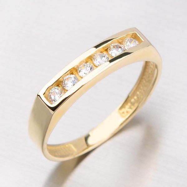 Zlatý prsten se zirkony DZ1863ZL