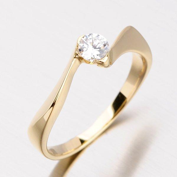 Decentní zlatý prsten DZ1856ZL