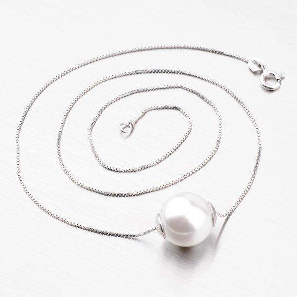 Stříbrný náhrdelník s kuličkou N1300209-0851-SLX