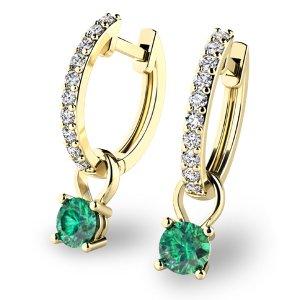 Briliantové náušnice se smaragdem 10863-ZL-SMA