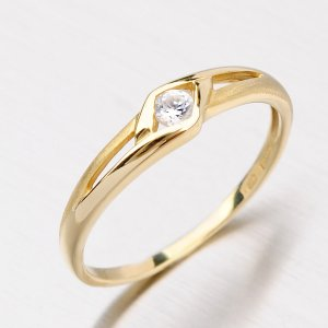 Prsten ze zlata se zirkonem DZ1633ZL