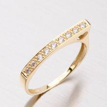Zlatý prsten se zirkony DZ2003ZL