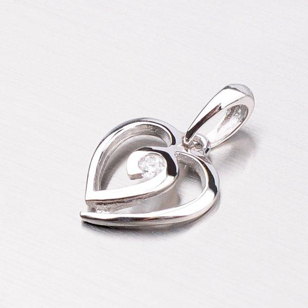 Zlatý přívěsek - srdce DZ1609B