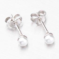 Stříbrné náušnice s perlou 6000D4-PERLA
