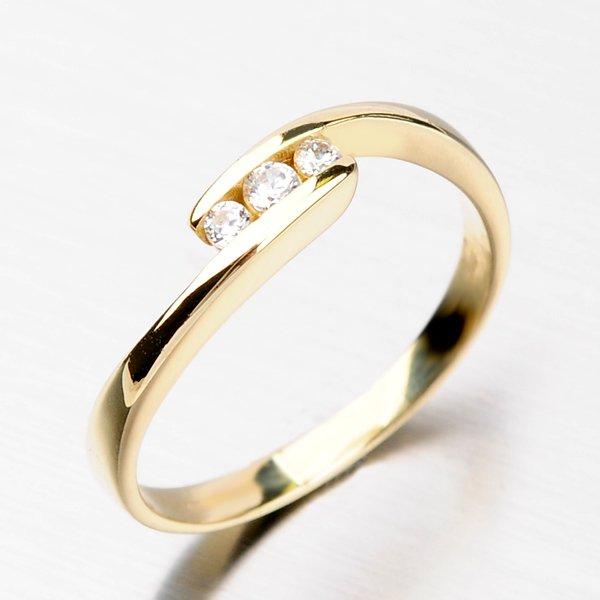 Dámský prsten se zirkony DZ2072ZL