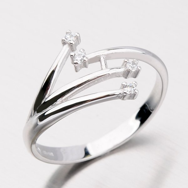 Zlatý prsten se zirkony DZ2063B